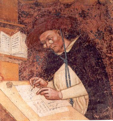 Фрагмент фрески из церкви Тревизо, Томмазо да Модена, 1352 г.